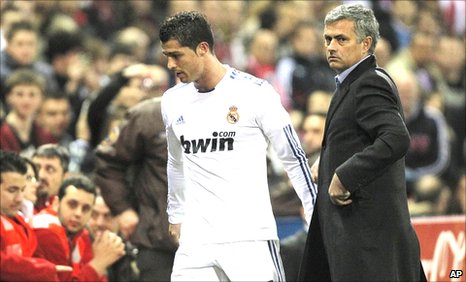 Cristiano Ronaldo is substituted against Atletico Madrid