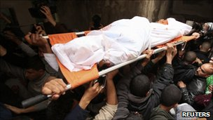 Funeral of  Emad Faragallah - Gaza 20 March