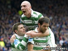 Gary Hooper, Scott Brown and Joe Ledley