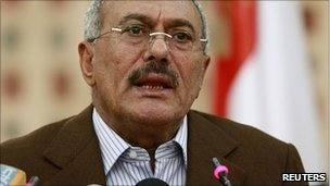 File photo of Yemeni President Ali Abdullah Saleh, 18 March 2011