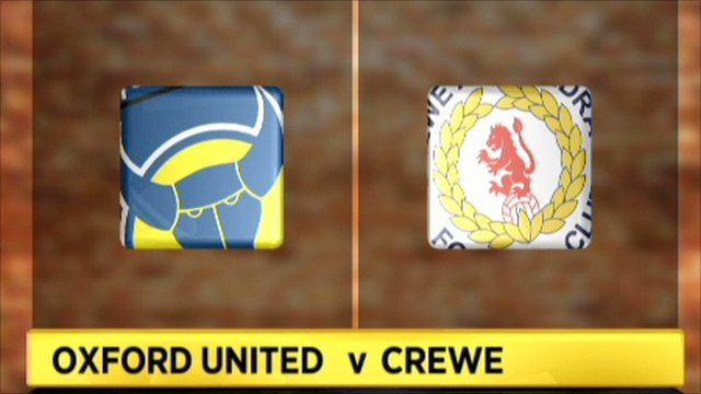 Oxford Utd 2-1 Crewe