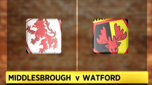 Highlights - Middlesbrough v Watford