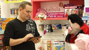Taibula toy shop and owner Raido Purge