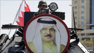 """After a brutal crackdown on protests, King Hamad said Bahrain was """"bigger and stronger than ever"""""""