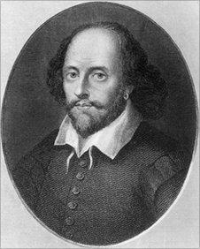 Circa 1600, English poet and playwright William Shakespeare (1564 - 1616). Original Artwork: Engraving by B Holl, after a print by Houbraken. Photo by Hulton Archive/Getty ImageS