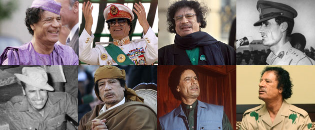 Montage of Col Gaddafi