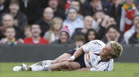 Bolton midfielder Stuart Holden