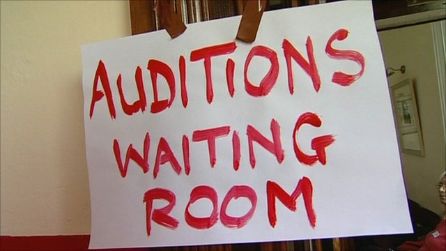 Sign for auditions for The Full Monty