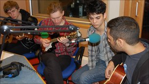 Crowns live at BBC Radio Cornwall