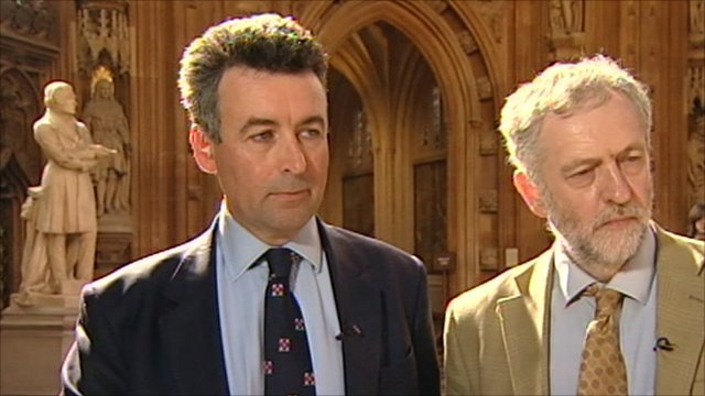 Bernard Jenkin and Jeremy Corbyn