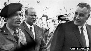 Gaddafi with Nasser