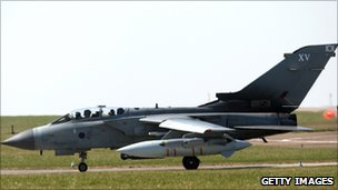 A Tornado at RAF Marham in Norfolk