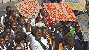 Cape Town education protest, March 2011