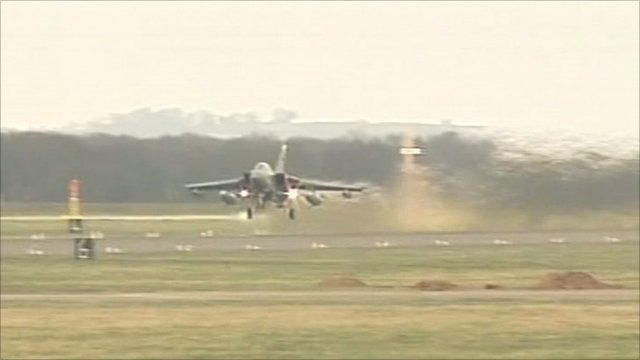 RAF aircraft taking off