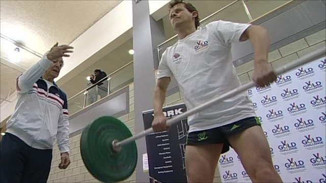 Mike Bushell weightlifting