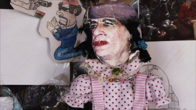 Cartoon of Gaddafi