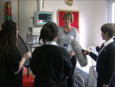 Students interview a nurse