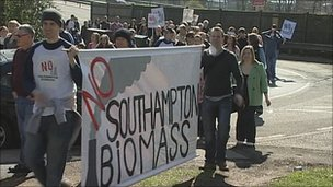Biomass protests