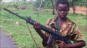 Child soldier, Sierra Leone
