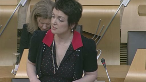 Skills Minister Angela Constance responds to questions at general question time.