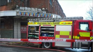 Fire crews at Hippodrome