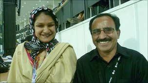 Sania Zaidi and her husband