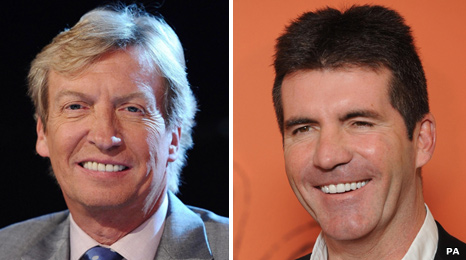 nigel lythgoe and lady gaga. Nigel Lythgoe and Simon Cowell
