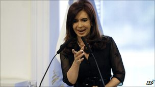 Argentine President Cristina Fernandez de Kirchner. File photo