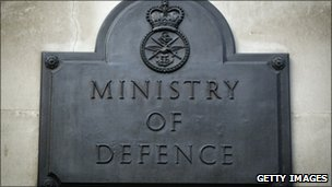 Ministry of Defence sign in Whitehall
