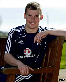 Gregg Wylde relaxes ahead of Scotland Under-21s' game
