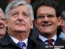 Bernstein (left) has offered his support to Capello