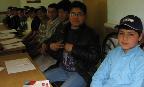 The BBC School Reporters of Tawhid High School in Herat, Afghanistan