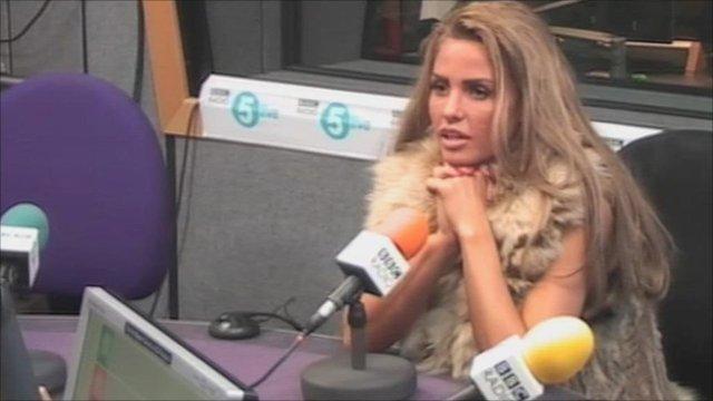 Katie Price in the 5 live studio