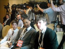 School Reporters at the England press conference