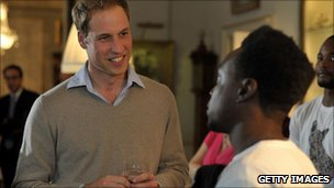 Prince William visiting Centrepoint