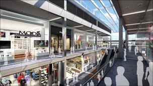 Plan for expanded Broadmarsh Centre in Nottingham