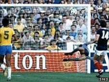 David Narey scores against Brazil