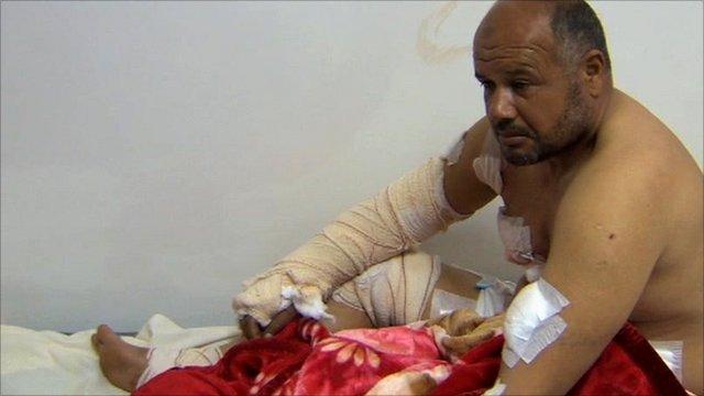 Injured Libyan
