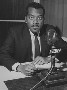Trevor McDonald, Caribbean Service producer and a sports commentator in the West Indies for many years, file photo 1970