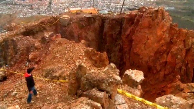 Bolivia crater