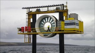 OpenHydro tide turbine (BBC)