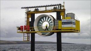 OpenHydro tide turbine (BBC)