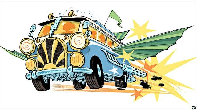 Illustration of the new Chitty Chitty Bang Bang