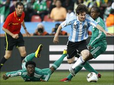 Lionel Messi slaloms through Nigeria at the World Cup