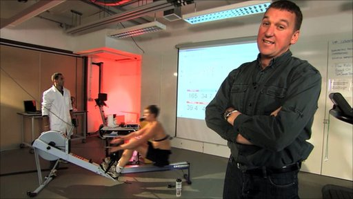 Matthew Pinsent watches Constantine Louloudis testing