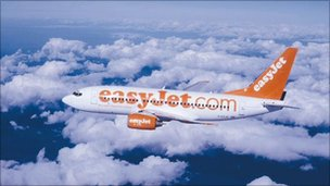 Easyjet plane in flight