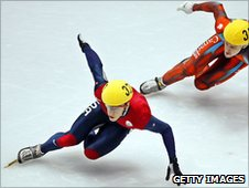 US speed skater at Salt Lake City Olympics