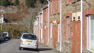 Penhydd Street in Pontrhydyfen