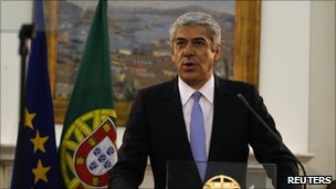 Portuguese Prime Minister Jose Socrates announcing his resignation (23 March 2011)
