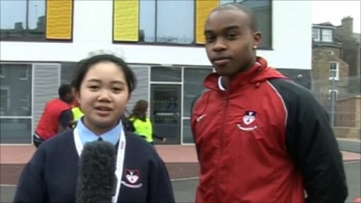 Hackney Free and Parochial School reporters quiz their PE teacher Daniel Davies about his bid to run at London 2012